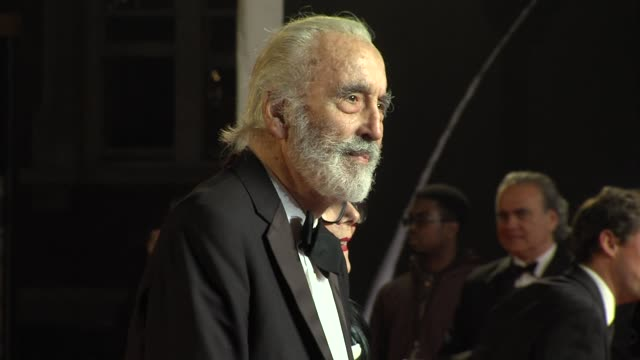 christopher lee at 'skyfall' royal world premiere at royal albert hall on october 23 2012 in london england - skyfall 2012 film stock videos and b-roll footage