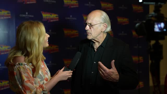 christopher lloyd attends the opening of 'back to the future the musical' on september 13, 2021 in london, england. - art and craft stock videos & royalty-free footage