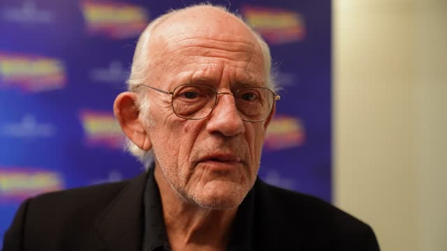 christopher lloyd on his thoughts about the musical, the impact the film has had on audiences, looking forward to seeing the musical at the opening... - art and craft stock videos & royalty-free footage