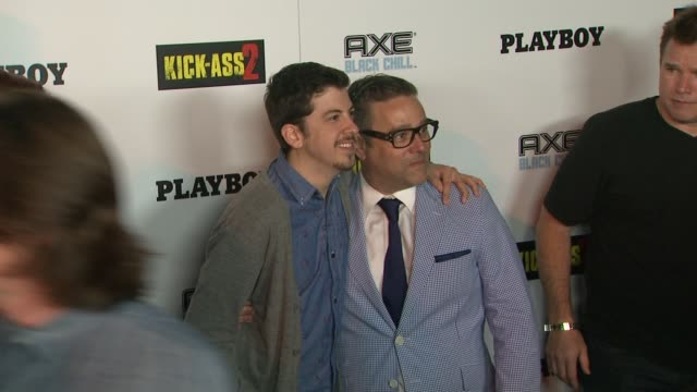 christopher mintzplasse at playboy and universal pictures' kickass 2 event at comiccon sponsored by axe black chill on 7/20/2013 in san diego ca - kick ass film title stock videos & royalty-free footage