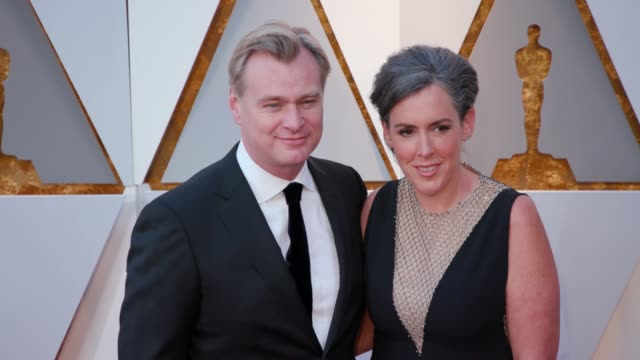Christopher Nolan and Emma Thomas at 90th Academy Awards Arrivals 4K Footage at Dolby Theatre on March 04 2018 in Hollywood California