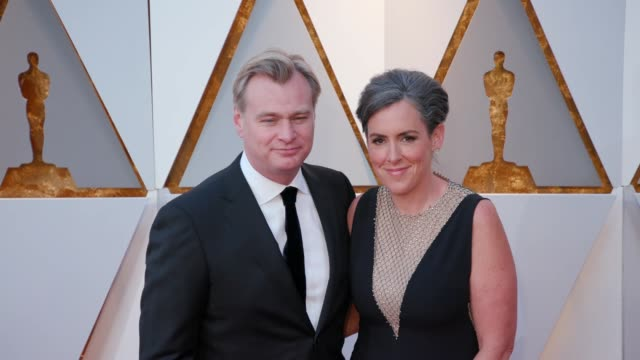 Christopher Nolan and Emma Thomas at the 90th Academy Awards Arrivals at Dolby Theatre on March 04 2018 in Hollywood California
