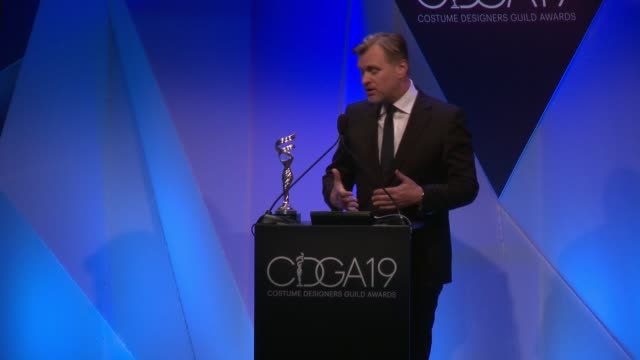 christopher nolan at the 19th costume designers guild awards at the beverly hilton hotel on february 21, 2017 in beverly hills, california. - the beverly hilton hotel stock videos & royalty-free footage