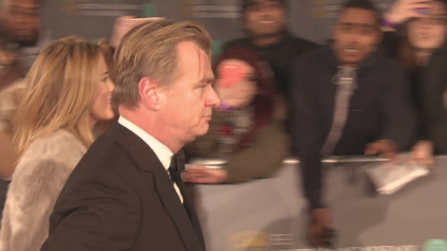 Christopher Nolan at the EE British Academy Film Awards at Royal Albert Hall on February 18 2018 in London England
