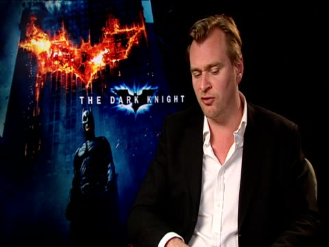 vídeos de stock, filmes e b-roll de christopher nolan, director on the intensity and unpredictability of heath ledger's performance as the joker. at the the dark knight european junket... - heath ledger