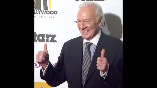 vídeos y material grabado en eventos de stock de christopher plummer at the 15th annual hollywood film awards gala - christopher plummer