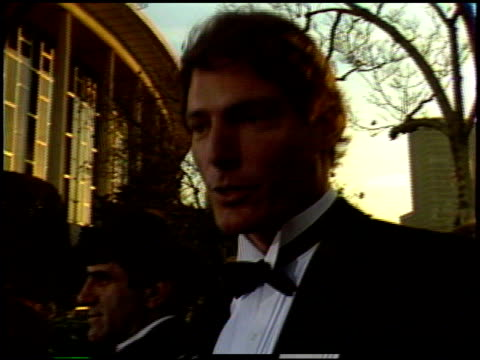 christopher reeve at the 1987 academy awards at dorothy chandler pavilion in los angeles california on march 30 1987 - dorothy chandler pavilion stock videos & royalty-free footage