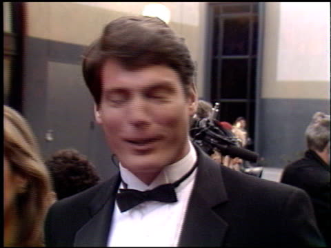 christopher reeve at the 1990 people's choice awards on march 11, 1990. - people's choice awards stock videos & royalty-free footage