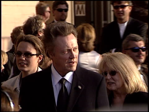 christopher walken at the 2003 screen actors guild sag awards at the shrine auditorium in los angeles california on march 9 2003 - shrine auditorium stock-videos und b-roll-filmmaterial