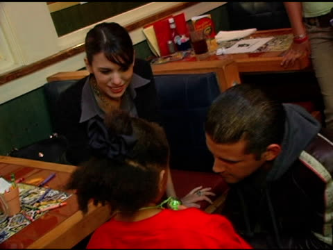 christy carlson romano and cal thomas at the chili's create a pepper to benefit st jude children's research hospital at chili's restaurant in... - chili's grill & bar stock videos and b-roll footage