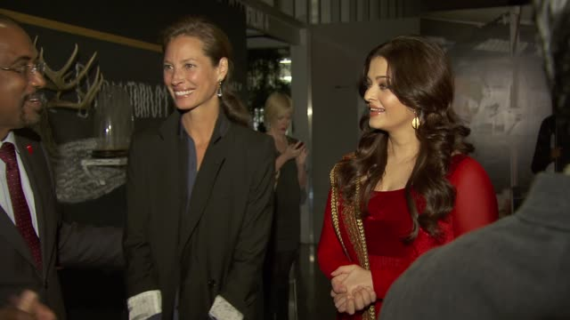 Christy Turlington and Aishwarya Rai United Nations Every Woman Every Child Dinner 2012 at MOMA on September 25 2012 in New York New York