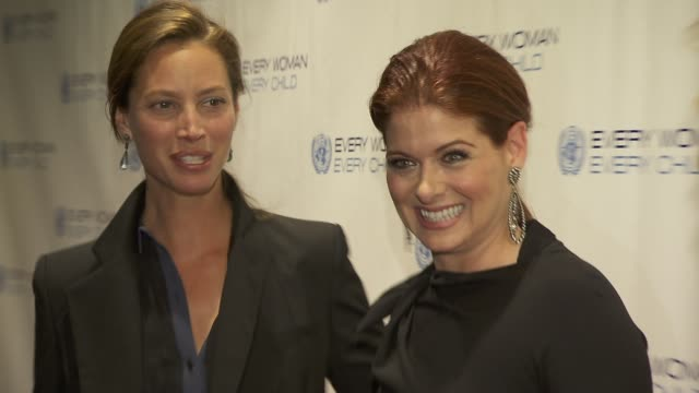 Christy Turlington and Debra Messing at United Nations Every Woman Every Child Dinner 2012 at MOMA on September 25 2012 in New York New York