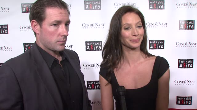 christy turlington and ed burns on coming out to support such an important cause, and why it is important for people to give back to charities and... - conde nast media group stock videos & royalty-free footage