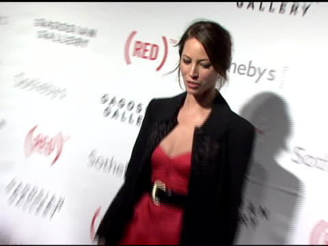 Christy Turlington at the Bono and Damien Hirst Paint the Town Red For Aids In Africa The Auction at Sotheby's in New York New York on February 14...