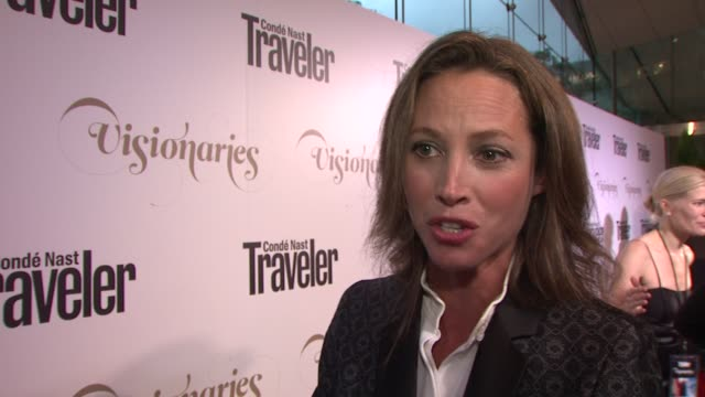 Christy Turlington on her charity work and being a fan of Hillary Clinton at Conde Nast Traveler Celebrates 'The Visionaries' And 25 Years Of Truth...