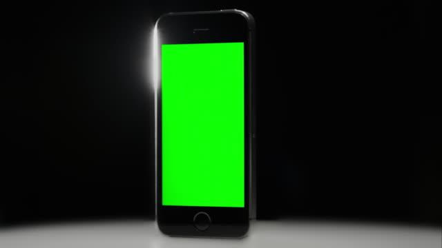Chroma key Green screen smart phone black background