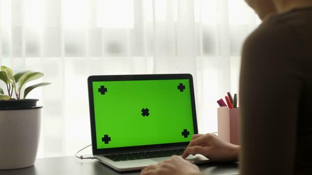 chroma key screen laptop computer - www stock videos & royalty-free footage