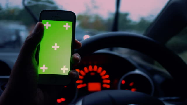 chroma key smart phone : transportation personal perspective - smart automobile brand stock videos and b-roll footage