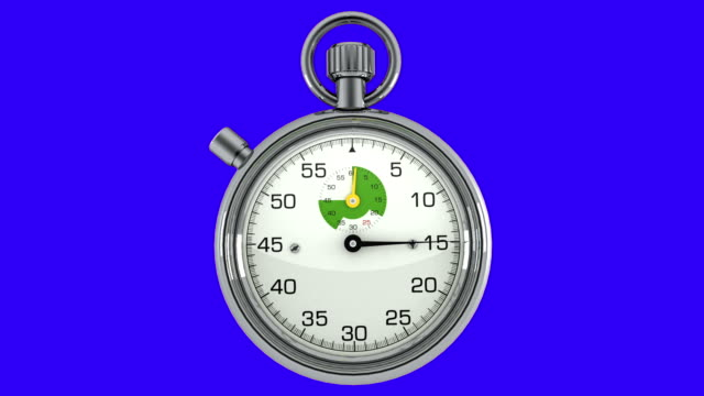 3d chroma key stopwatch - stop watch stock videos & royalty-free footage