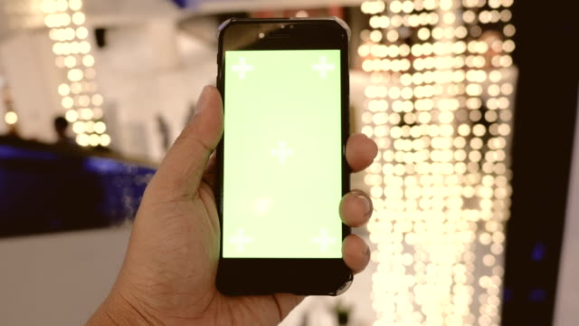 chroma key  : using smart phone at night - equipment stock videos & royalty-free footage