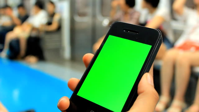 Chroma key: using tablet on train