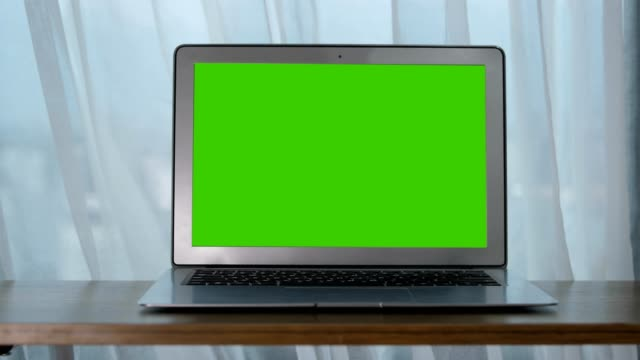 chroma key,laptop on table - blank computer monitor stock videos & royalty-free footage
