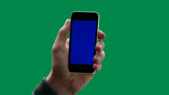 Chromakey space. iPhone touch screen.