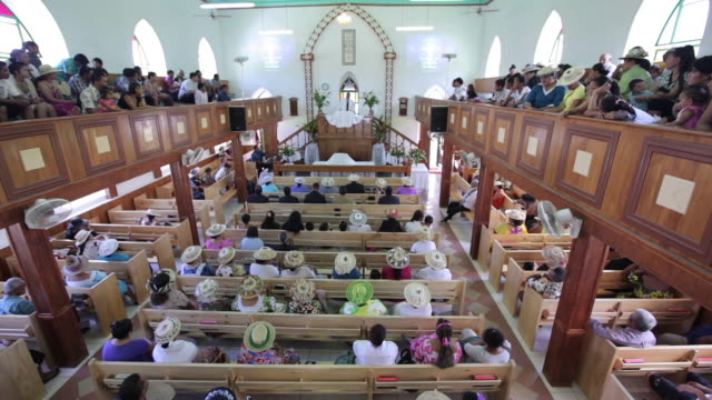 chruch in rarotonga - cook islands stock videos & royalty-free footage