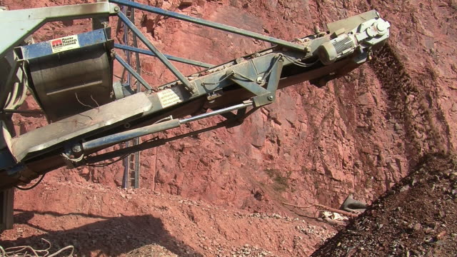 ms chrushing machine at quarry / taben-rodt, rhineland-palatinate, germany - quarry stock videos & royalty-free footage