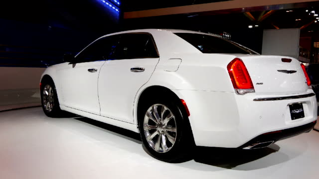 stockvideo's en b-roll-footage met chrysler 300c in the canadian international autoshow which is canada's largest automotive show held annually at the metro toronto convention centre - chrysler