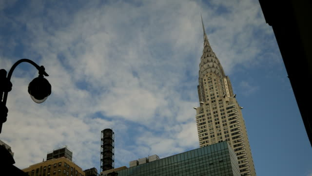 chrysler building hd timelapse. new york - chrysler building stock videos & royalty-free footage