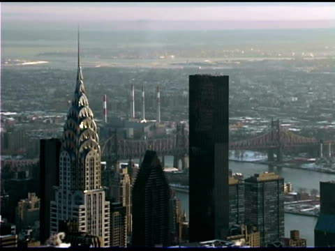 chrysler building in new york cityscape - international landmark stock videos & royalty-free footage