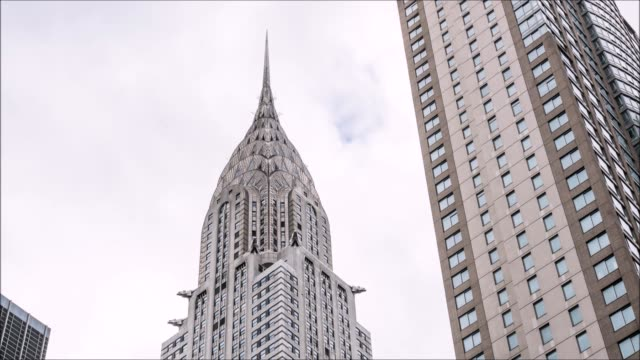 chrysler building time lapse - chrysler building stock-videos und b-roll-filmmaterial