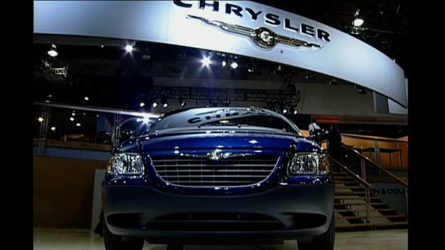 Chrysler files for bankruptcy INT Chrysler car exhibition