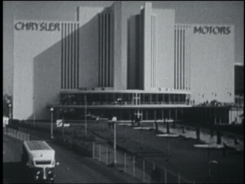 chrysler motors building at chicago world's fair / around the fair with burton holmes - chicago world's fair stock videos and b-roll footage