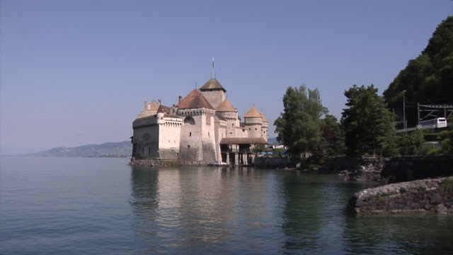 château de chillon - rhone river stock videos & royalty-free footage