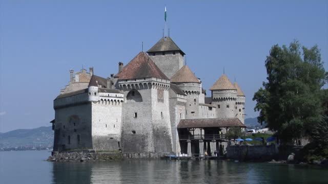 château de chillon - montreux stock videos & royalty-free footage