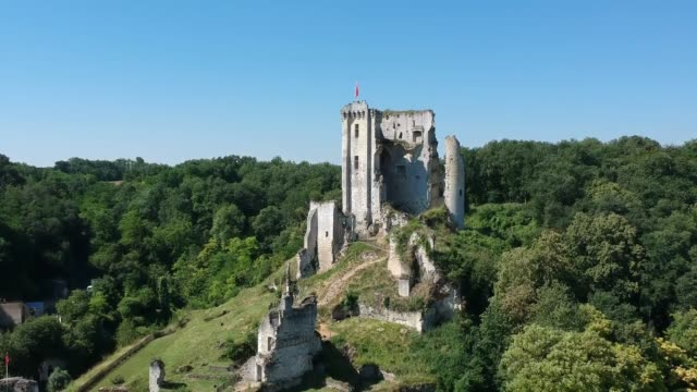 château de lavardin - old ruin stock videos and b-roll footage