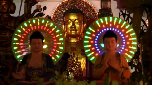 chua vinh nghiem buddhist pagoda, ho chi minh city, vietnam - mysterium bildbanksvideor och videomaterial från bakom kulisserna