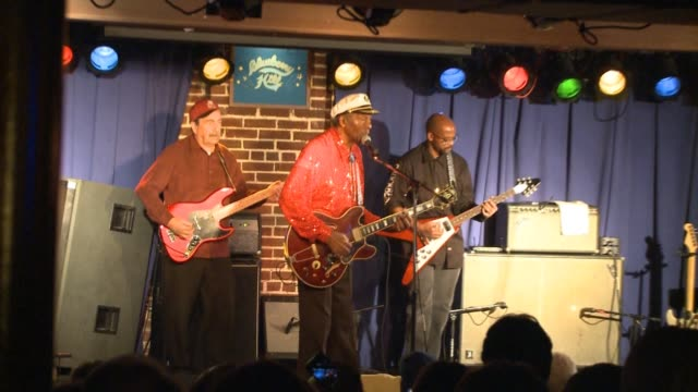 ktvi chuck berry playing at st louis's blueberry hill on oct 21 2010 - blues stock videos & royalty-free footage