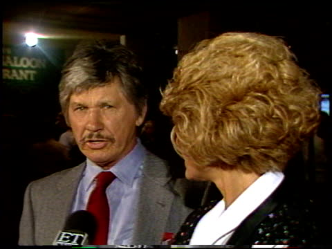 chuck bronson at the 'othello' premiere at century plaza in century city, california on september 17, 1986. - century city stock videos & royalty-free footage