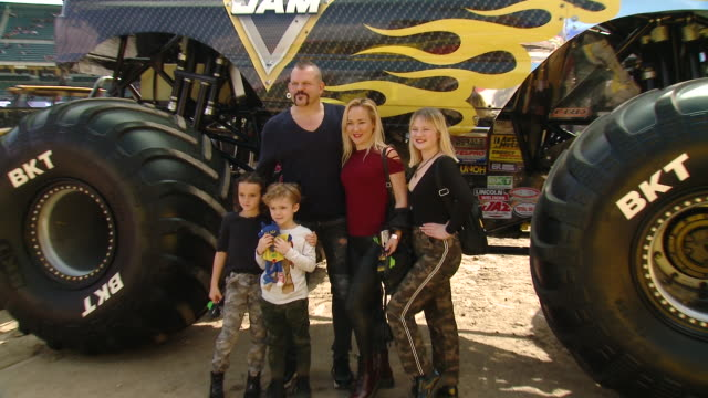 chuck liddell at monster jam celebrity event at angel stadium on february 23, 2020 in anaheim, california. - angel stadium stock videos & royalty-free footage