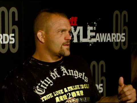chuck liddell at the the stuff style awards at arclight cinemas in hollywood california on september 27 2006 - arclight cinemas hollywood stock videos and b-roll footage