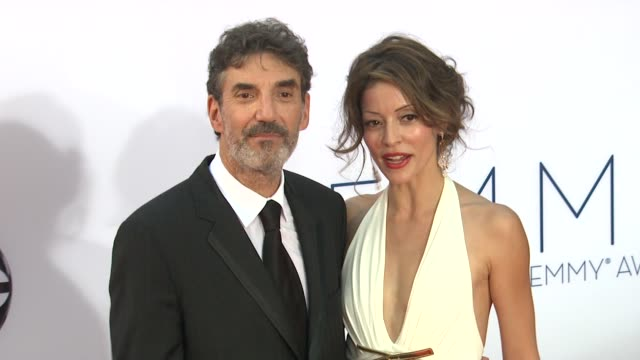 chuck lorre at 64th primetime emmy awards - arrivals on 9/23/12 in los angeles, ca. - emmy awards stock-videos und b-roll-filmmaterial