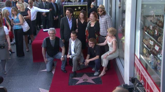 Chuck Lorre Marin Hinkle Conchata Ferrell Ashton Kutcher Lee Aronsohn Jon Cryer Angus T Jones Holland Taylor at the Jon Cryer Honored With Star On...