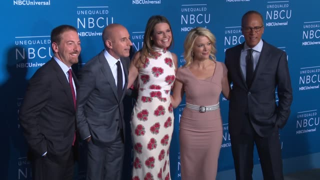 chuck todd, matt lauer, savannah guthrie, lester holt, and megyn kelly at nbc universal networks upfronts 2017 at radio city music hall on may 15,... - matt lauer stock videos & royalty-free footage