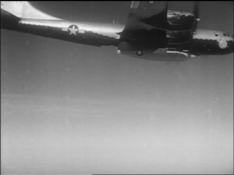 chuck yeager's bell x1 airplane detaching from b29 in air / ca / newsreel - air vehicle stock videos & royalty-free footage