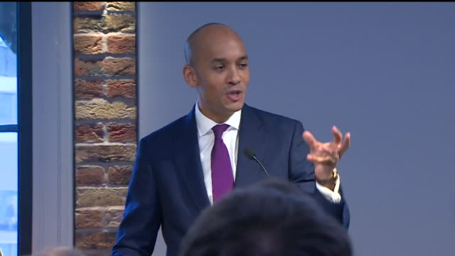 "chuka umunna speech at labour split press conference explaining why he is leaving the party and forming the independent group / change uk ""it is time... - labour party stock videos & royalty-free footage"