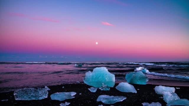 Chunks of ice at the beach at Jokulsarlon, Iceland