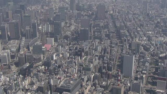 aerial, chuo-ku, tokyo, japan - ginza stock videos & royalty-free footage